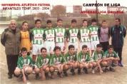 Infantís Campións de Liga 2003-2004