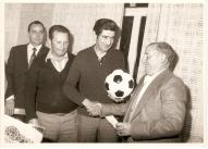 Acto de entrega do trofeo á deportividade na primeira temporada 1978-79