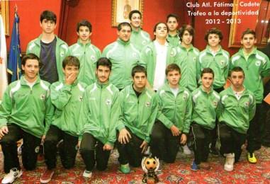 Trofeo á Deportividade 2012-2013 para os cadetes do Atlético Fátima