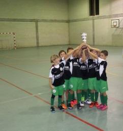 Prebenxamíns Campións do XIV Torneo de Fútbol Sala de Teo