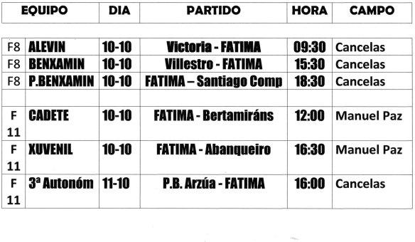 Horarios 10-11-OCT 2015